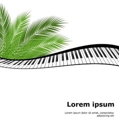 palm branch template vector image
