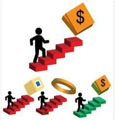 Person walking up to ladder vector image