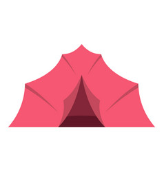 Pink tent for camping icon isolated vector