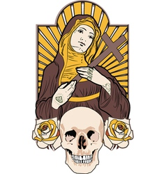 saint tattoo vector image