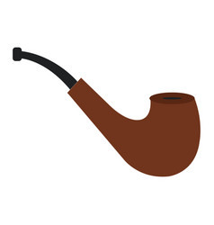 wooden pipe isolated icon vector image