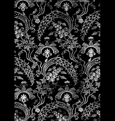 17 Abstract hand-drawn floral seamless pattern vector image vector image