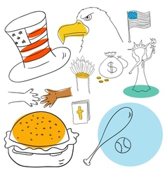 American collection vector image vector image