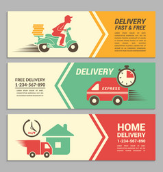 banners design template for fast delivery vector image vector image