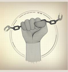 broken chain vector image