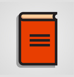 clean and simple orange book vector image