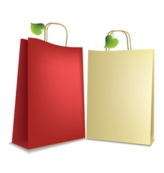 Eco shopping bags vector image vector image