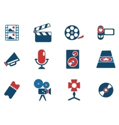 Film Industry Icons vector image