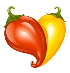 hot chilli pepper red and yellow vector image