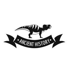 Jurassic dino logo simple black style vector