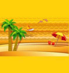 tropical sea holidays vector image vector image