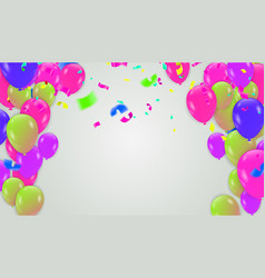 2019 happy new year and happy birthday on green vector image