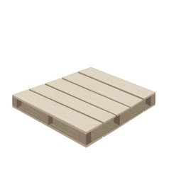A Wood Pallet on A White Background vector