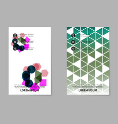 abstract composition business card set geometric vector image
