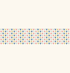 Abstract cut out flower shapes border pattern vector