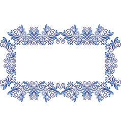 Abstract gzhel frame vector image