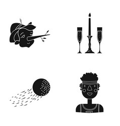 African sport entertainment and other web icon vector