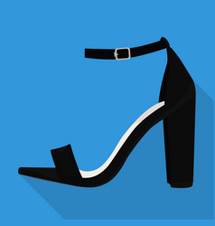Ankle strap shoes woman flat isolated vector