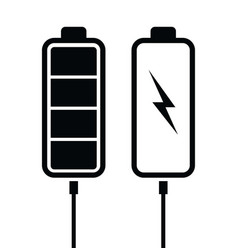battery black charging levels vector image