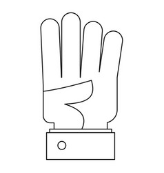 bend finger icon outline style vector image