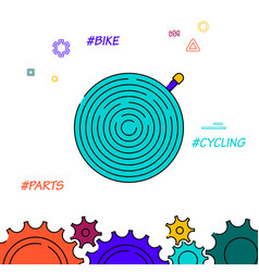 Bicycle inner tube filled line icon simple vector