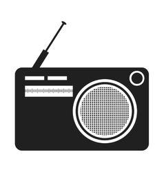 Black and white old stereo graphic vector