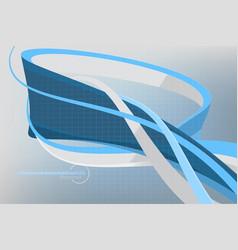 Blue shapes colors vector