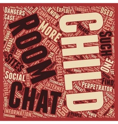 BWI chatrooms social sites and your child 1 text vector image