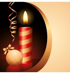 candle and ball vector image