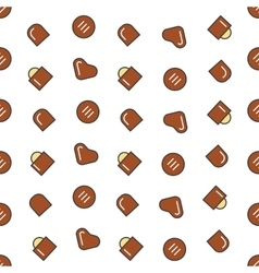 Chocolate candies seamless pattern background vector