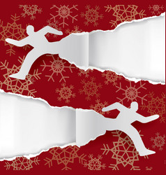 christmas shopping fever torn paper background vector image