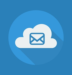 Cloud Computing Flat Icon Message vector image