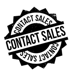 Contact Sales rubber stamp vector