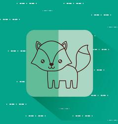 Cute fox icon vector