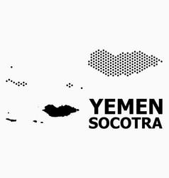 Dot pattern map socotra archipelago vector