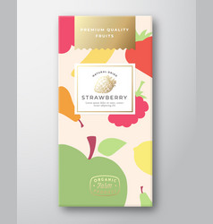 Dried fruits label packaging design layout vector