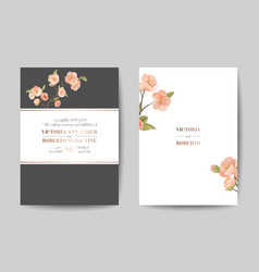 Elegant greenery wedding invitation card template vector