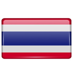 Flags Thailand in the form of a magnet on vector image