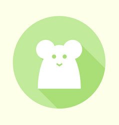 flat pastel green mouse icon vector image