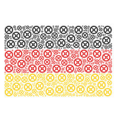 german flag pattern of clock gear icons vector image