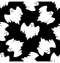 Halloween seamless background pattern vector image