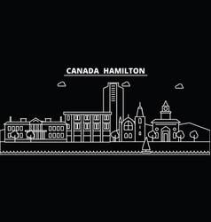 Hamilton silhouette skyline canada - hamilton vector