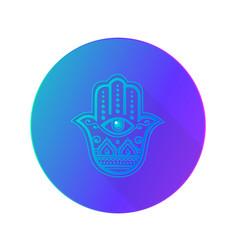 Hamsa hand fatima icon vector