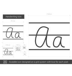 Handwriting line icon vector