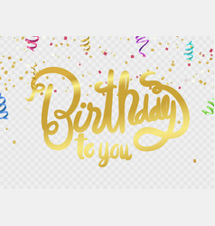 happy birthdaybeautiful greeting card scratched vector image