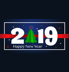 Happy new year 2019 background greeting card vector