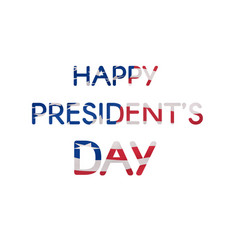 Happy presidents day text banner textured us flag vector