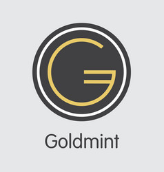 Icon goldmint gold cryptocurrency - sign vector