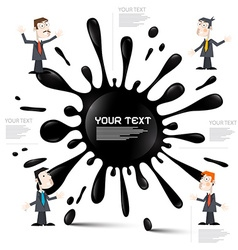 Infographic Layout with Blot - Splash and vector image