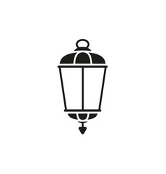 lamp old street black icon vector image